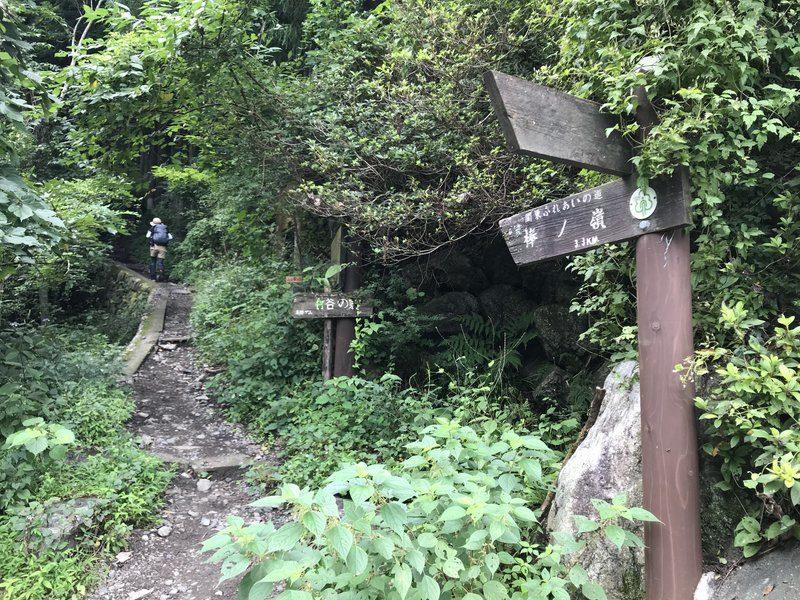 棒ノ折山の登山口