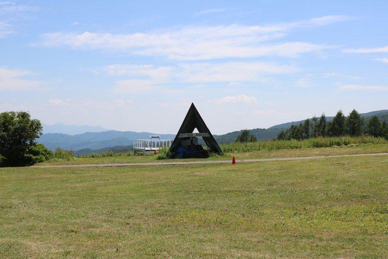 武尊牧場キャンプ場フリーサイトからの景色