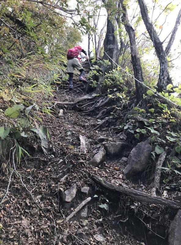十二ヶ岳山頂付近の登山