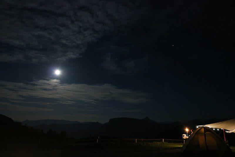 内山牧場キャンプ場の夜