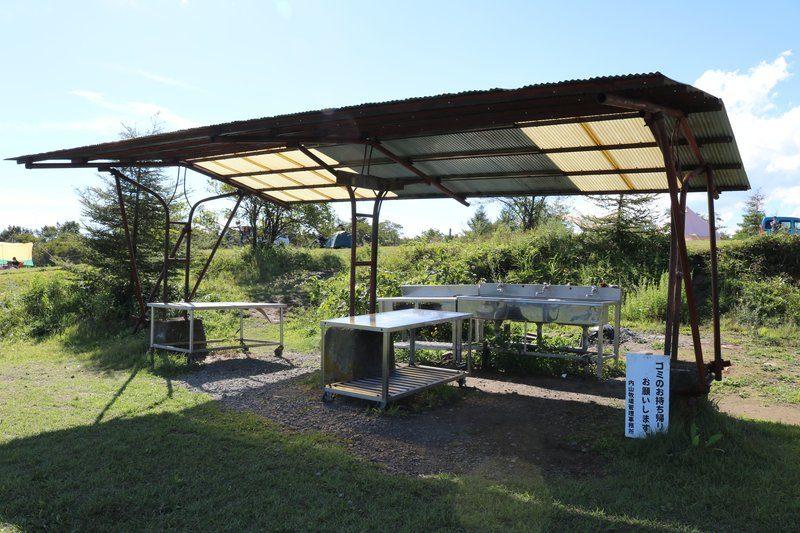 内山牧場キャンプ場の炊事場
