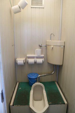 内山牧場キャンプ場のトイレ