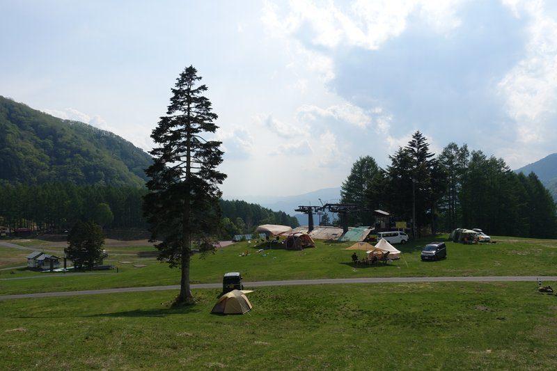 丸沼高原オートキャンプ場のフリーサイト